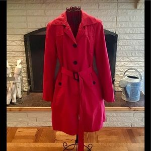 Cherry Red Raincoat